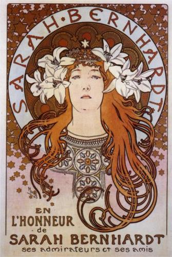 Sarah Bernhardt by Alfons Maria Mucha
