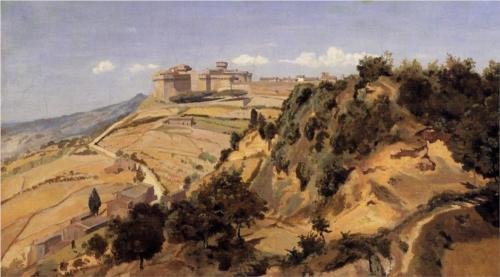 Voltarra the Citadel by Jean-Baptiste-Camille Corot